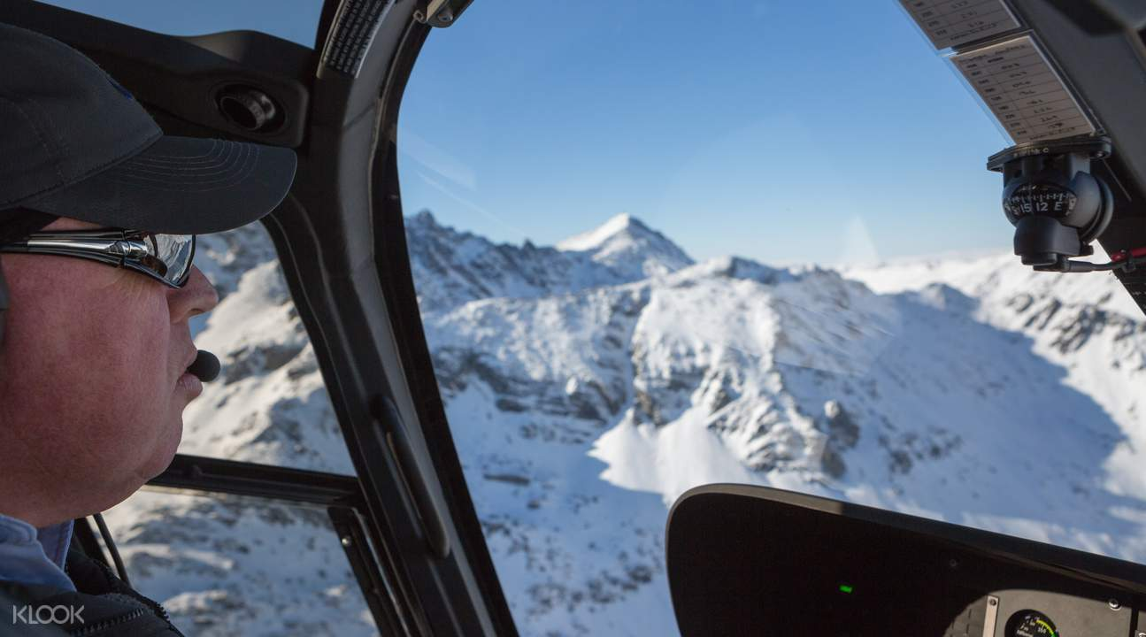 Helicopter and Snowmobile Ride