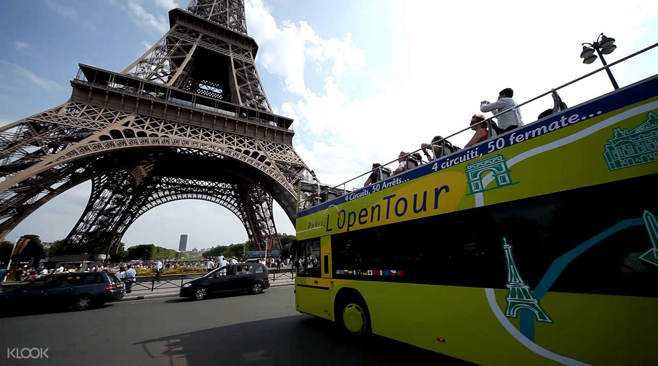 l'open tour hop on hop off bus paris