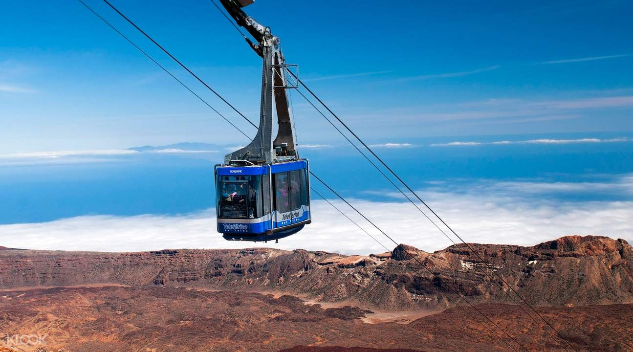 teide cable car in tenerife