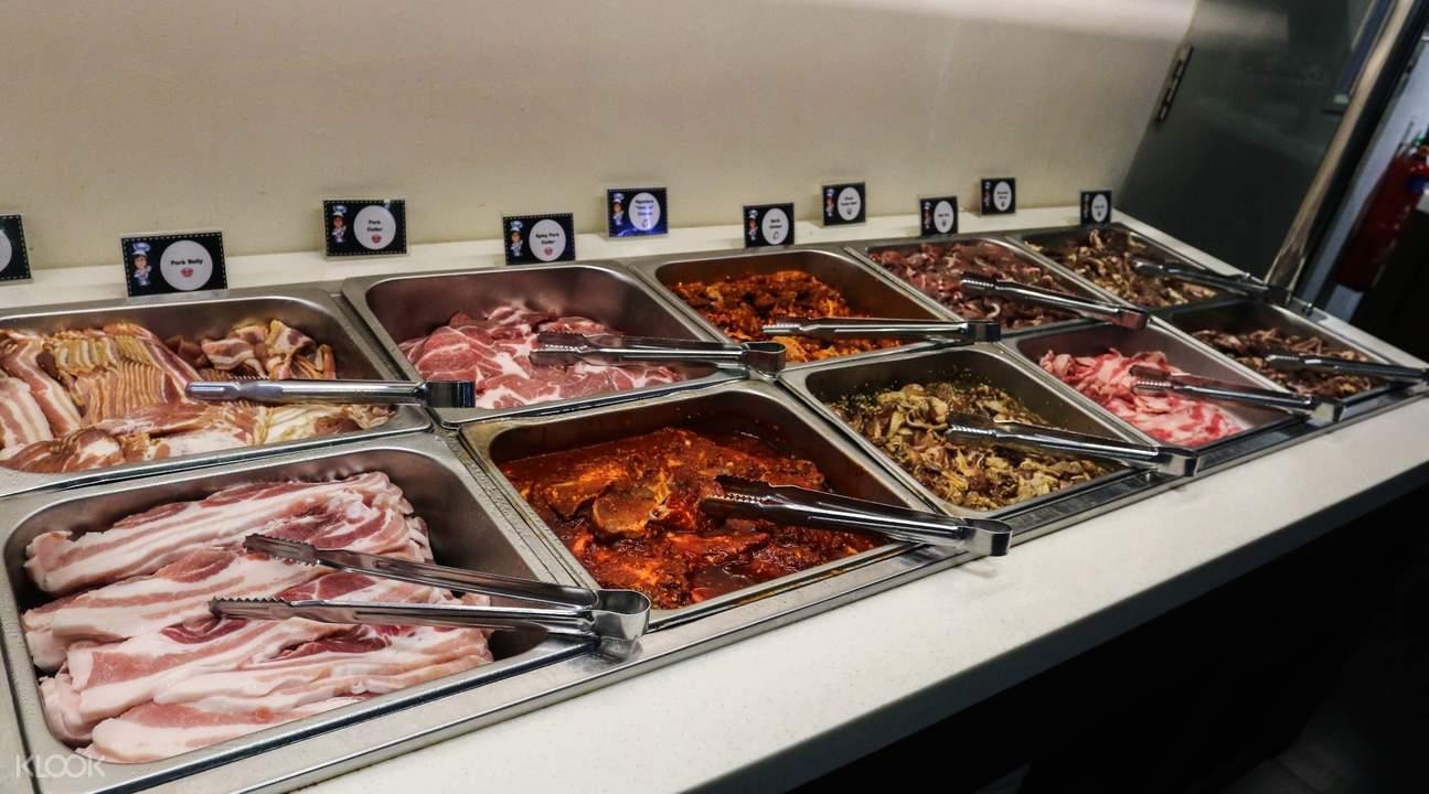 Buffet Table at I'm Kim Korean BBQ in Dhoby Ghaut