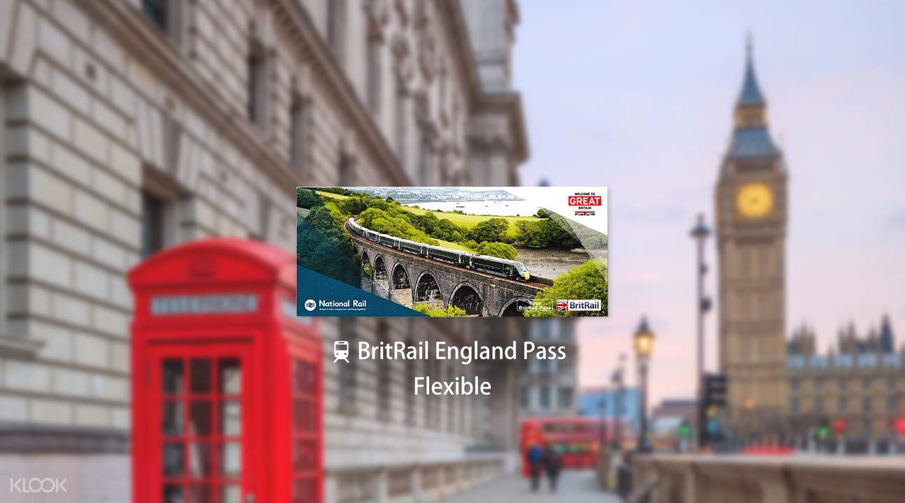 BritRail England Pass (Flexible 3, 4, 8 or 15 Days)