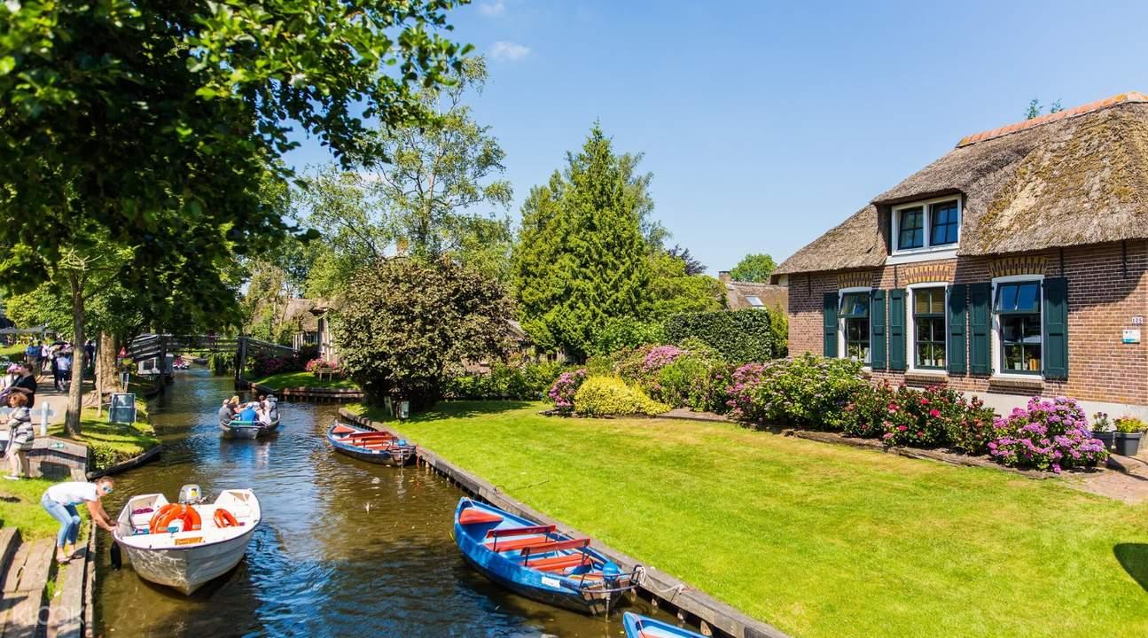 荷蘭羊角村一日遊船之旅