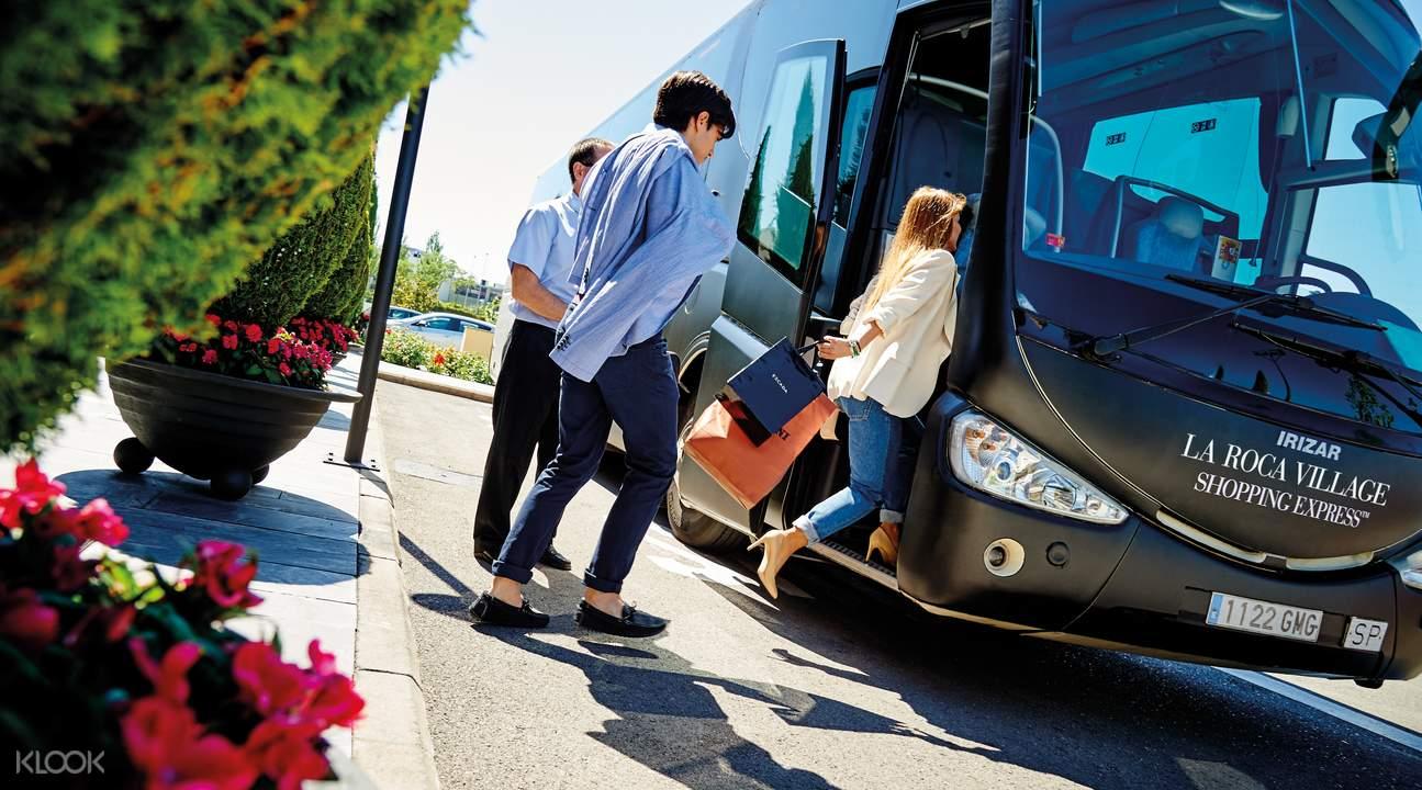 巴士接送 巴塞羅那至La Roca購物村