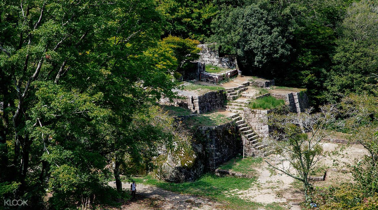 stone foundations of Naegi Castle
