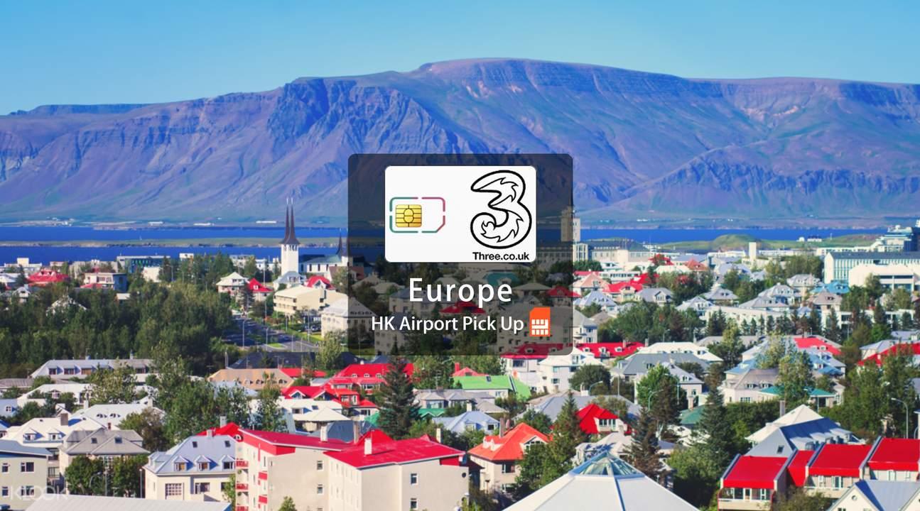 3 SIM card Europe