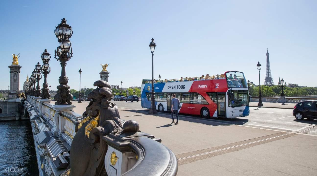 巴黎隨上隨下觀光巴士(敞篷)