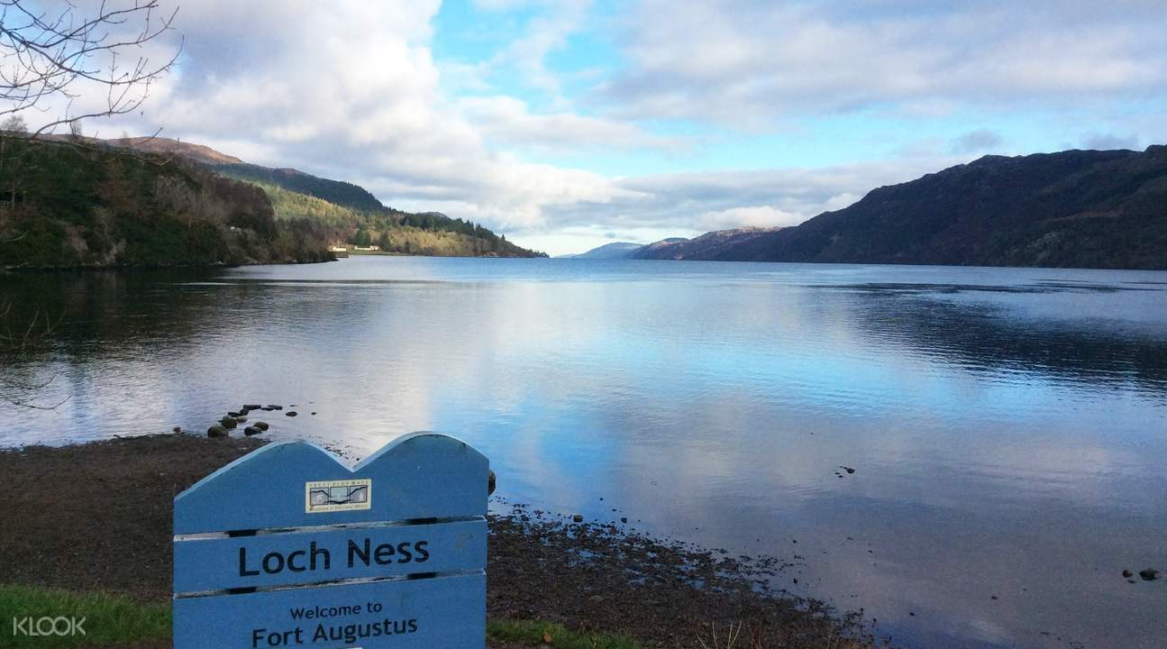 loch ness with sign