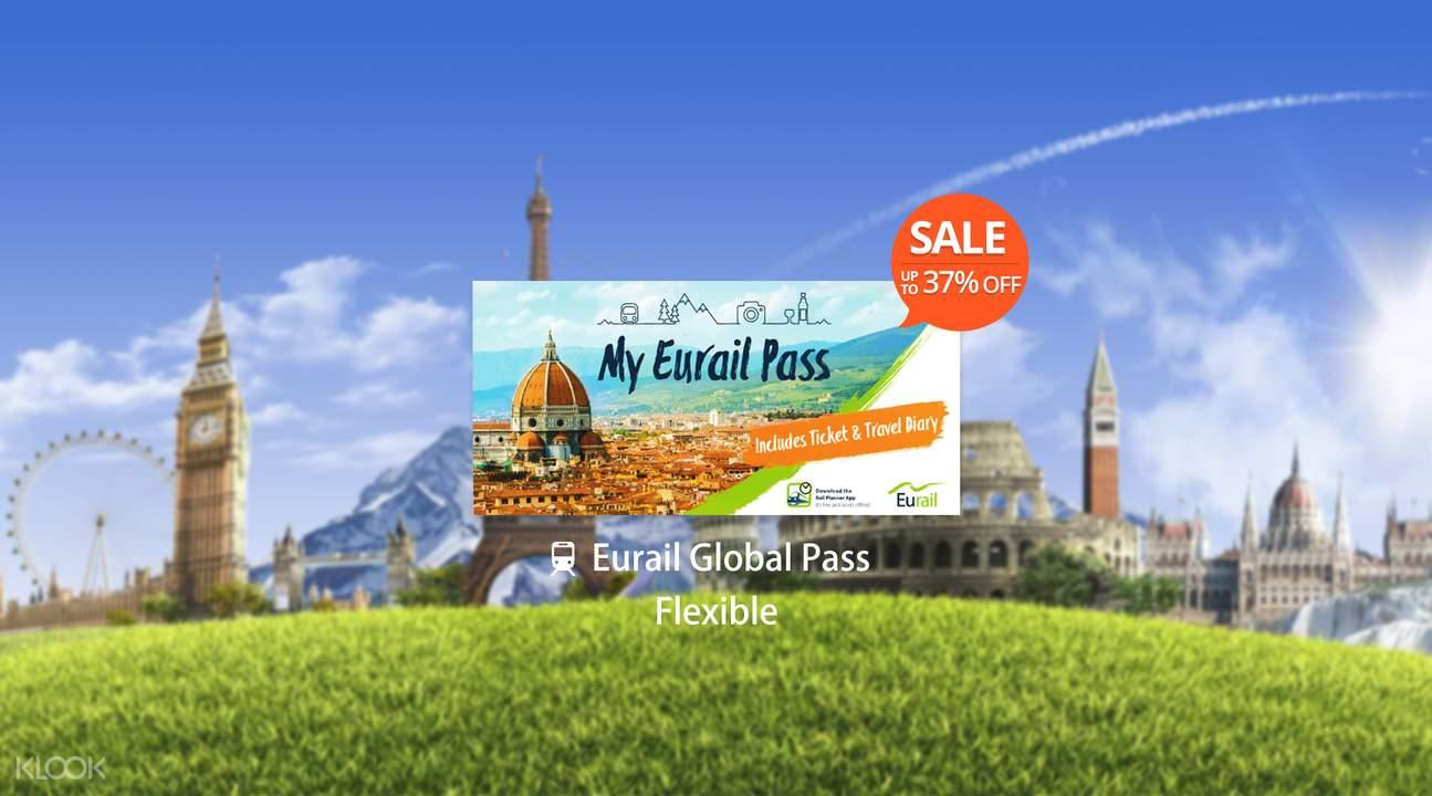 【特價】Eurail 歐鐵全境火車通行證(彈性5、7、10、15日)