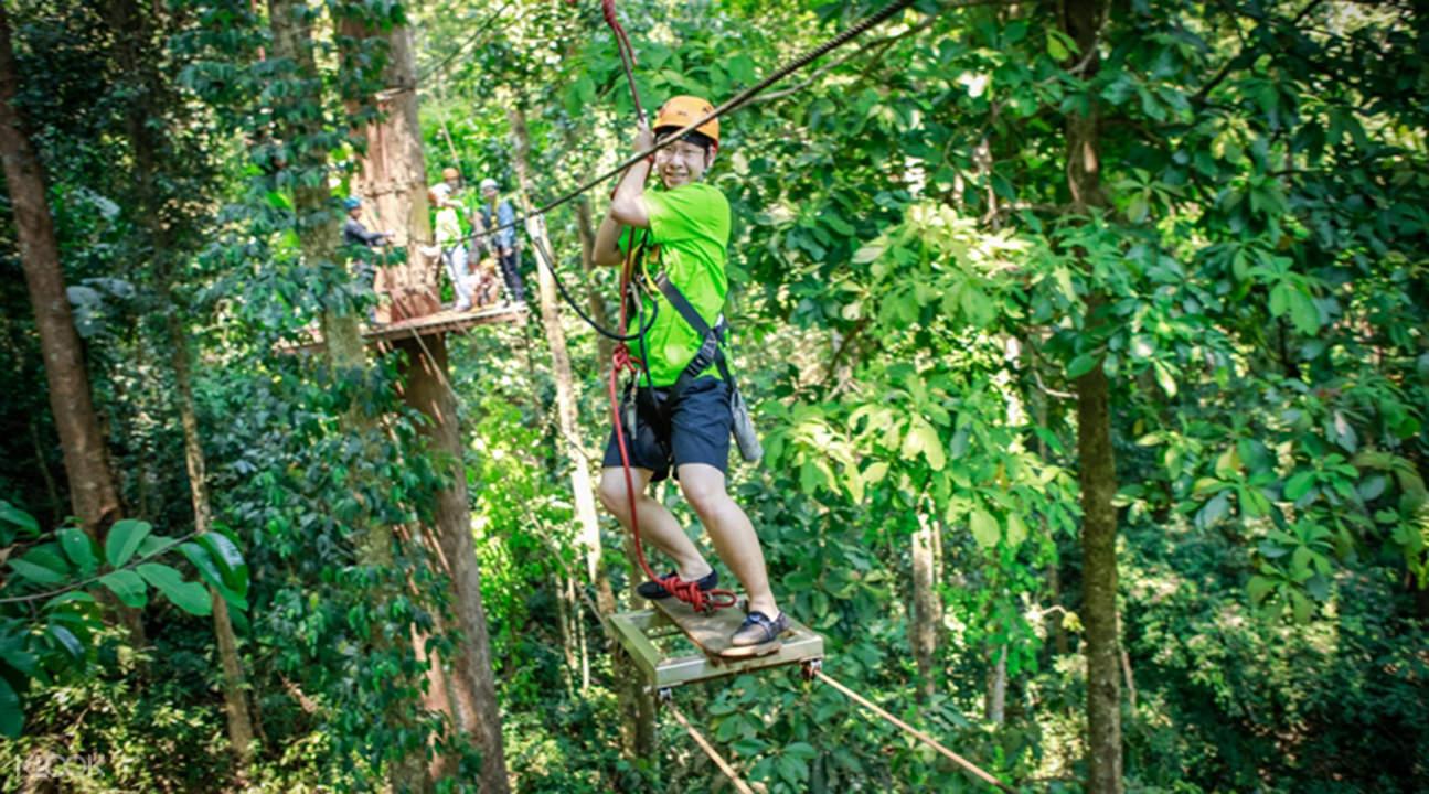 泰国清迈丛林飞跃
