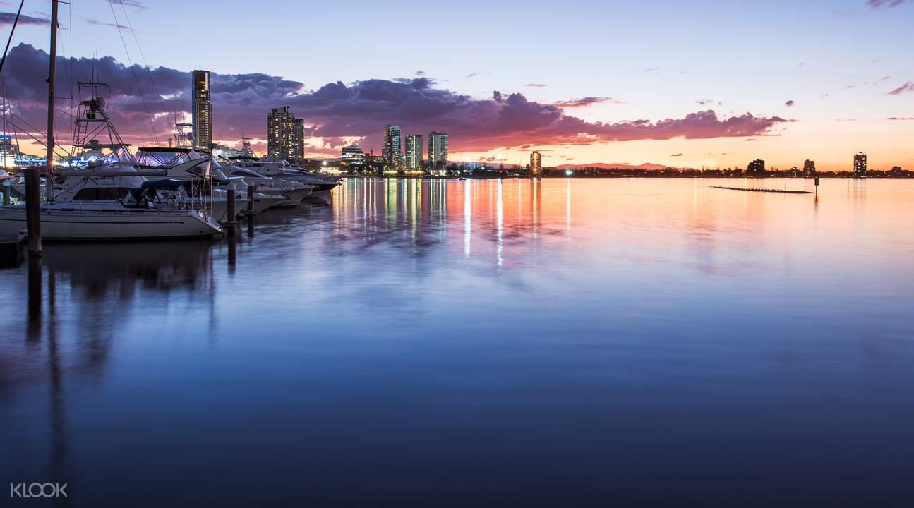 Matahari terbenam Gold Coast