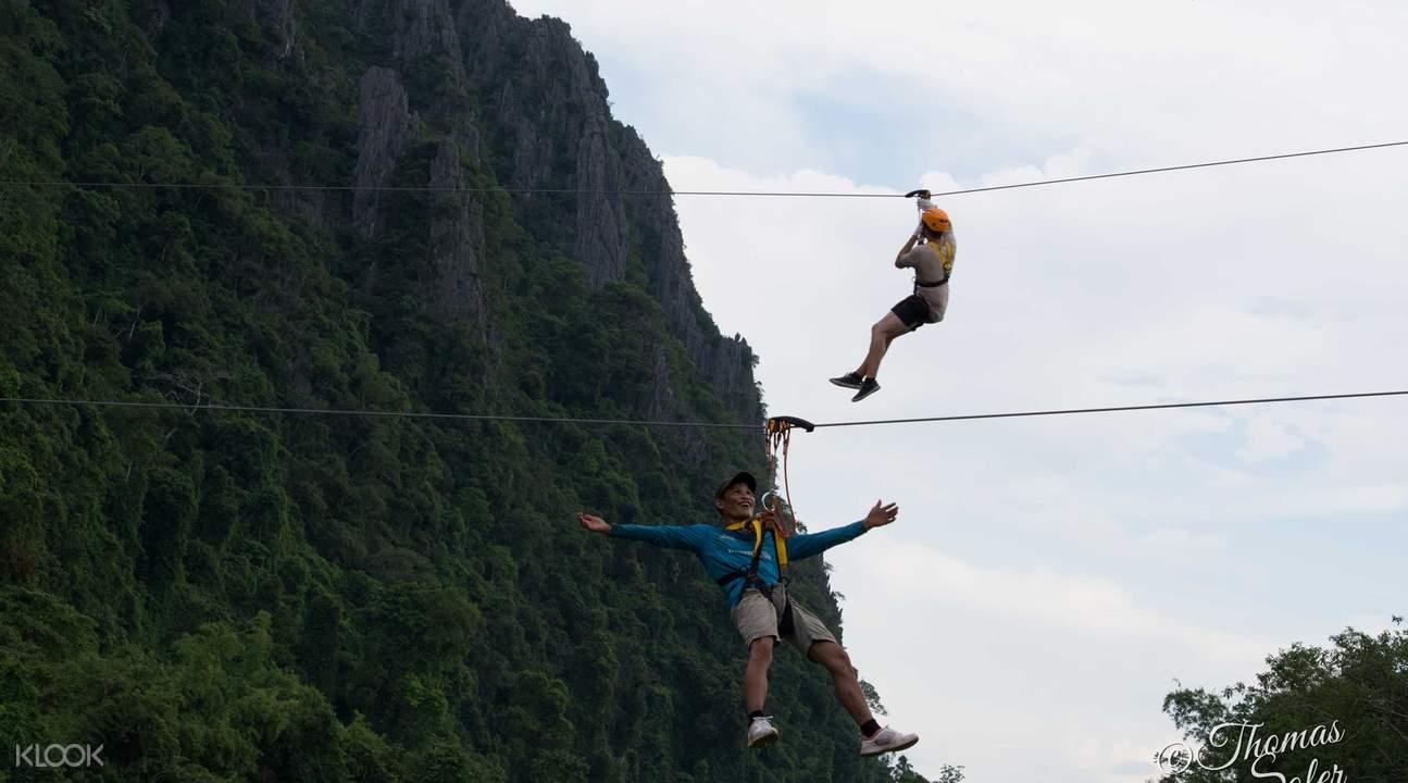 phar none cliff zipline vang vieng