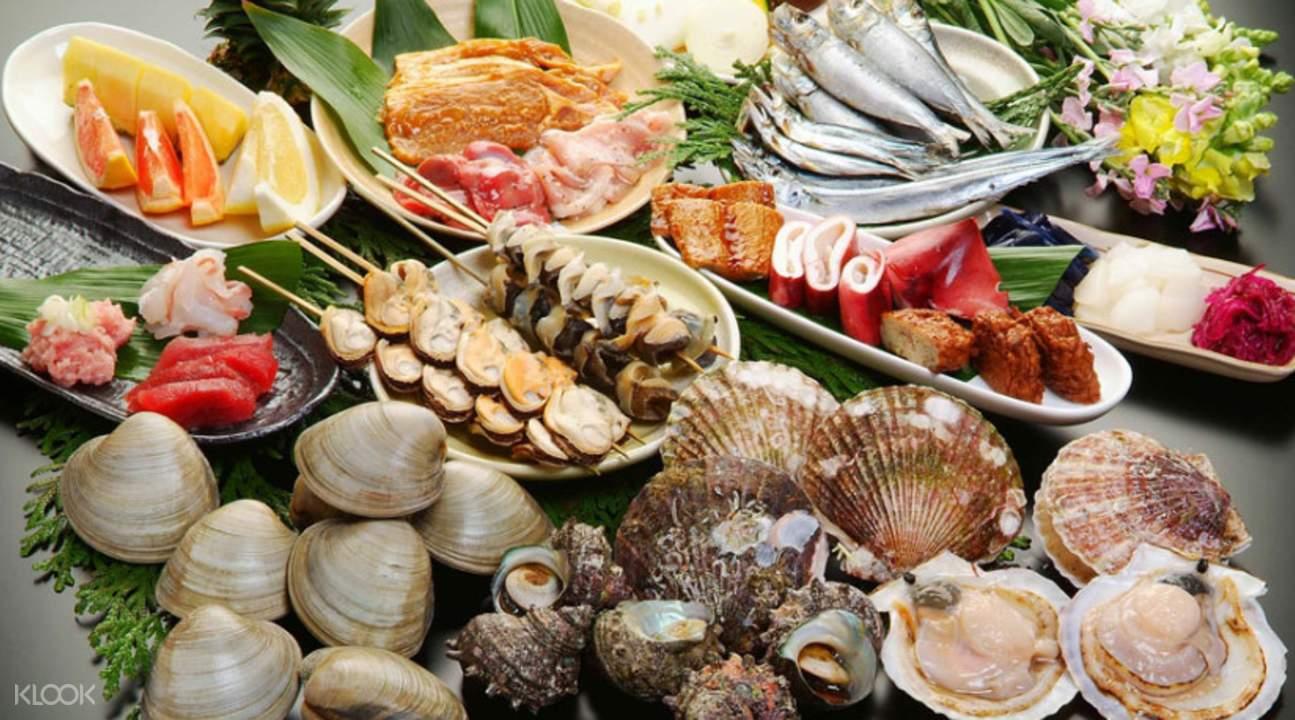seafood buffet at Chidori Kaikan