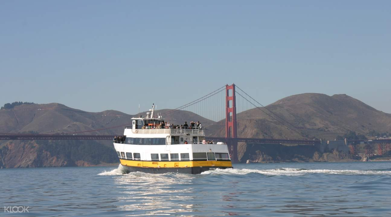 a boat cruising around San Francisco Bay
