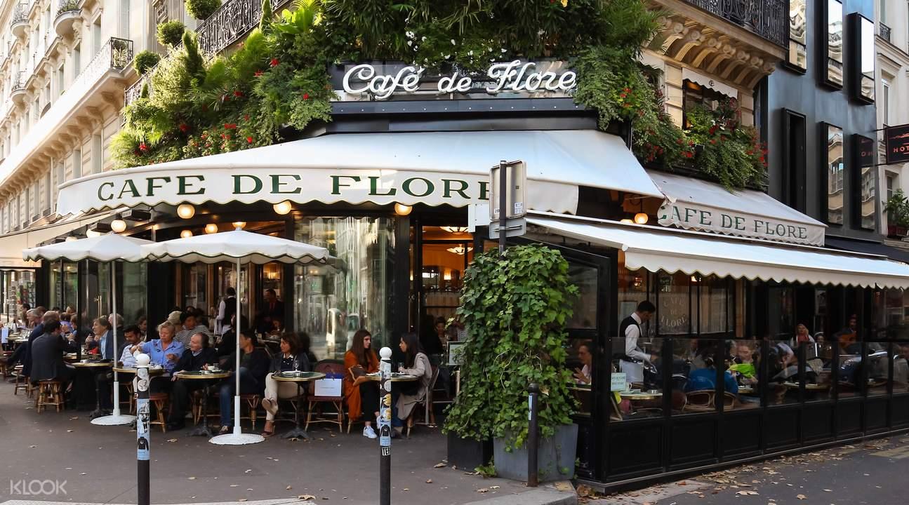 左岸徒步遊,午夜巴黎取景地,花神咖啡