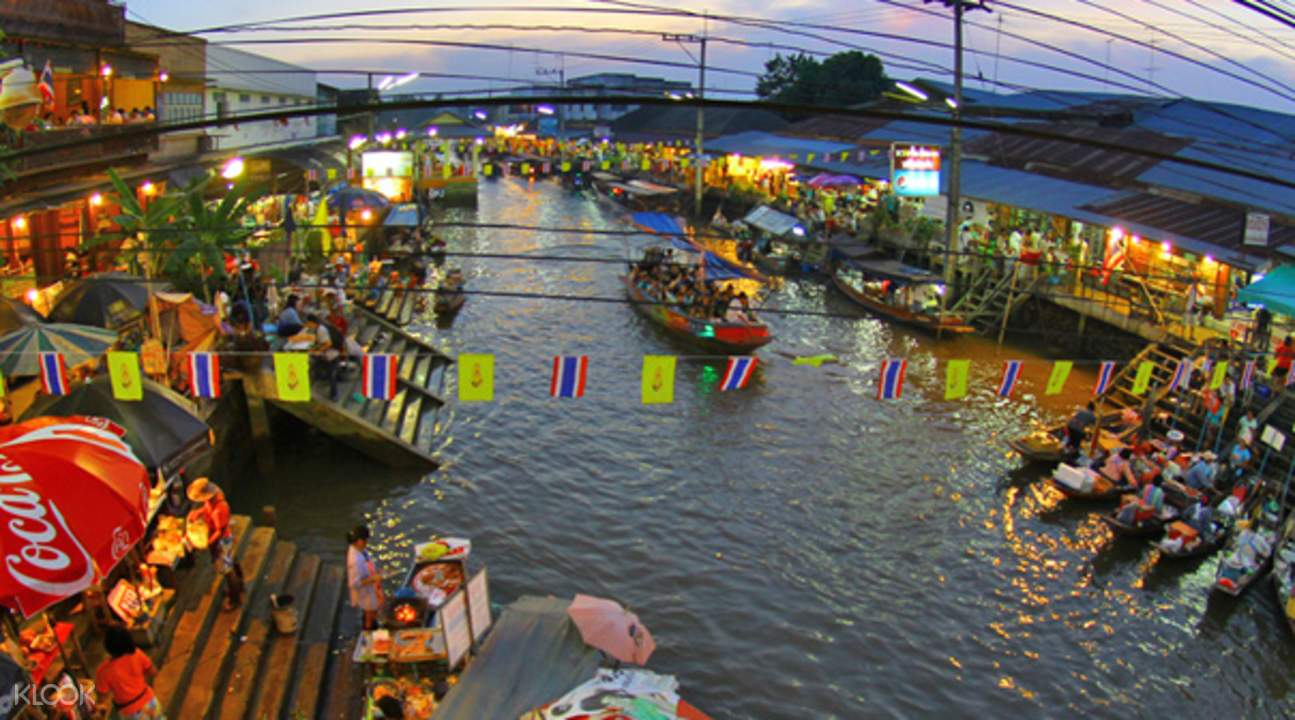 Amphawa Floating Night Market with Firefly Viewing Tour