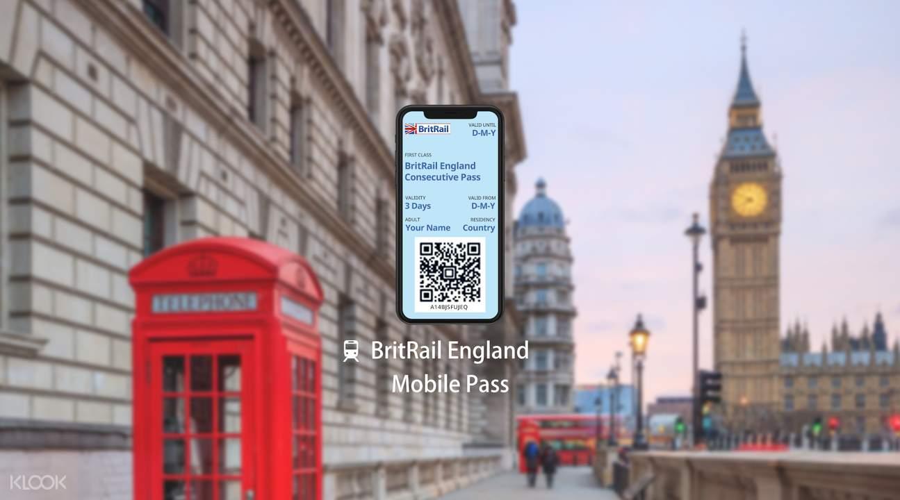 【電子票】BritRail 英國鐵路英格蘭通行證(連續3日 / 4日 / 8日 / 15日 / 22日 / 1個月)