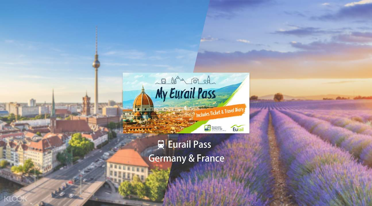 Eurail Pass for Germany & France (4, 5, 6, 8 or 10 Days)