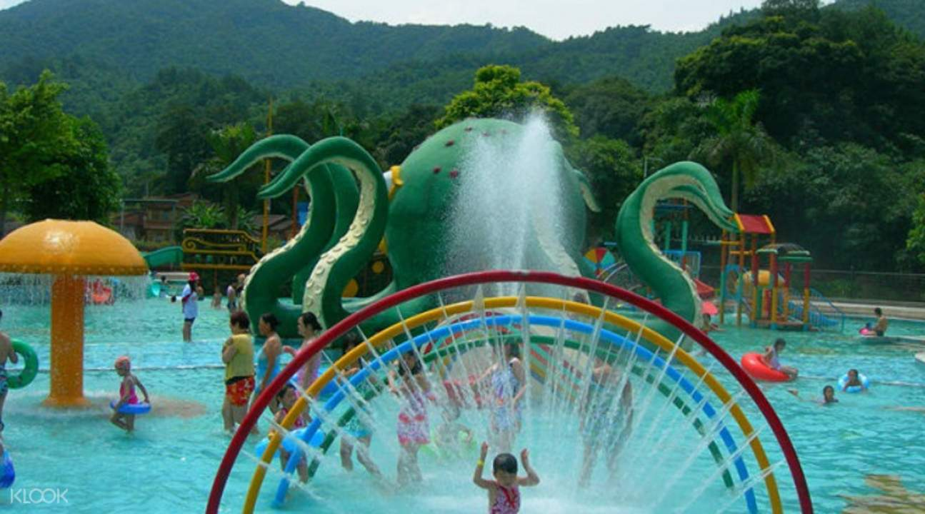 qingquan bay water park, best resorts in guangdong, qingquan bay eco resort, water parks with rafting in guangdong,