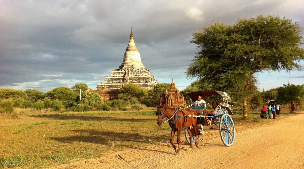 horse cart tour sunset bagan