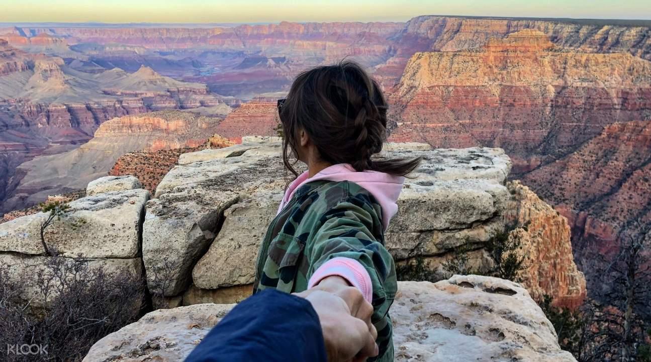 person at grand canyon