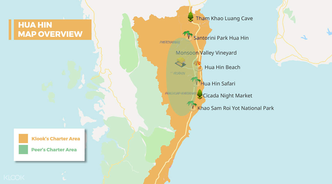 Hua Hin map overview