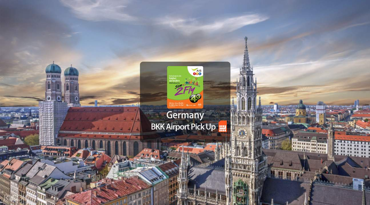 Germany Prepaid 4G SIM Card (BKK Airport Pick Up) from AIS