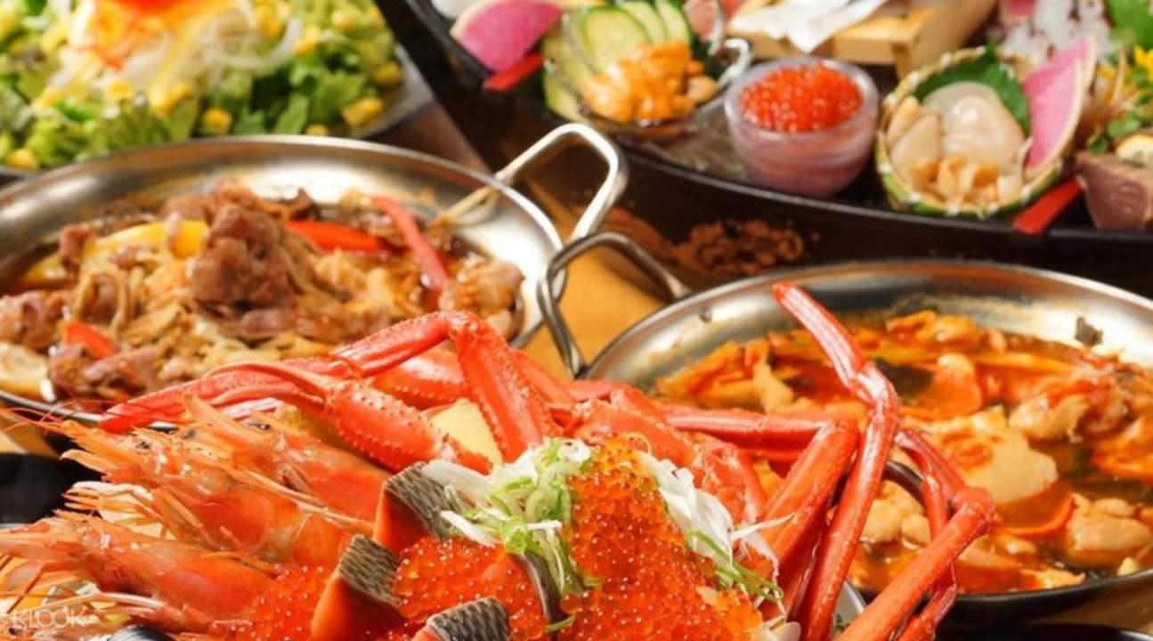Hokkaido Shiretoko Gyojo in Osaka Japan seafood