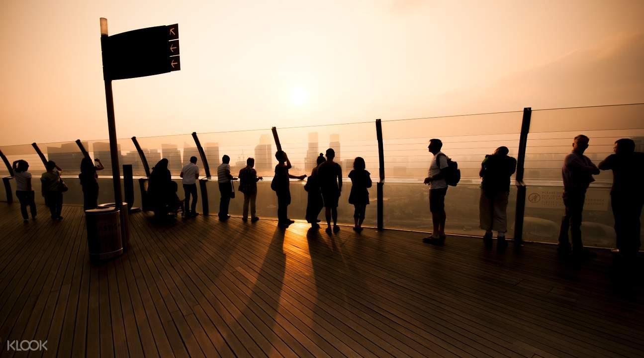 sunset Marina Bay Sands Skypark Observation Deck admission ticket