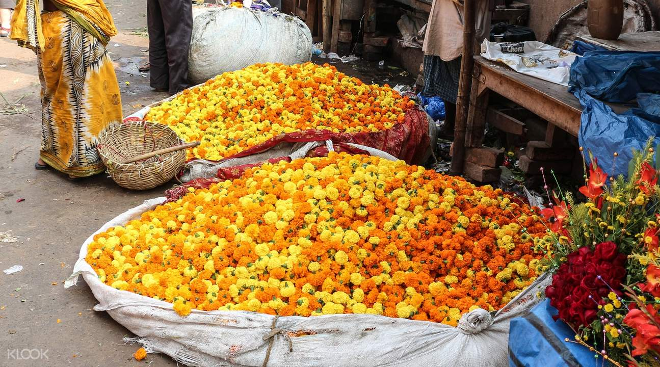 flower market walking tour kolkata
