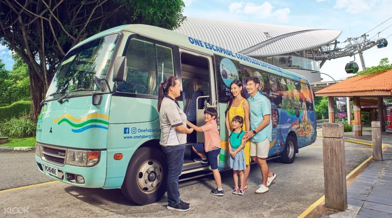聖淘沙島的旅遊巴士