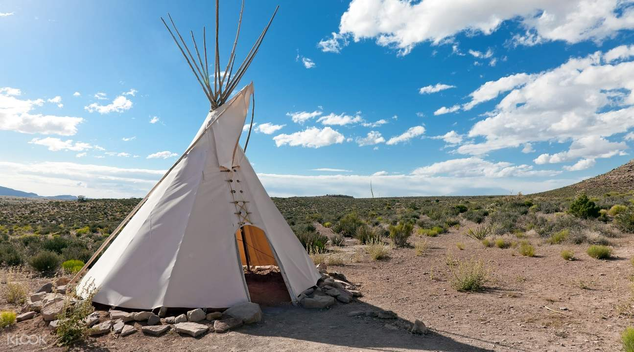 hualapai indian tribe tent on the grand canyon west rim