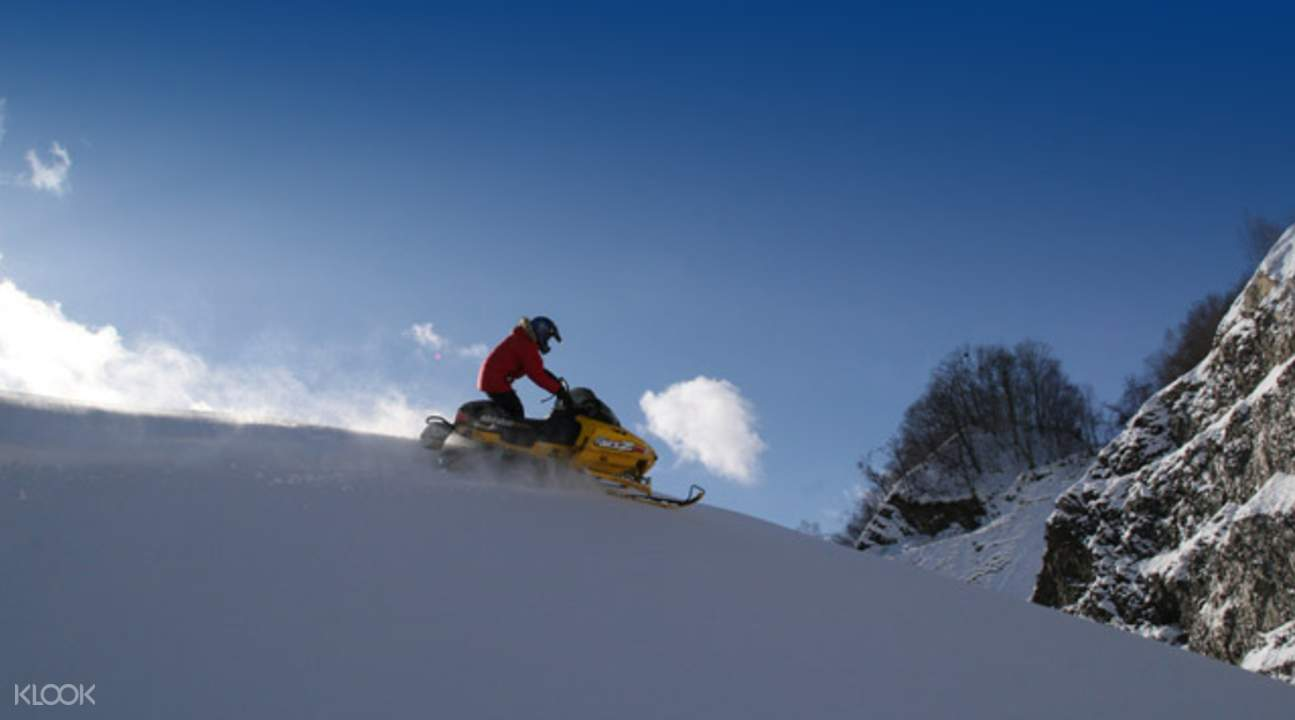 北海道雪上摩托