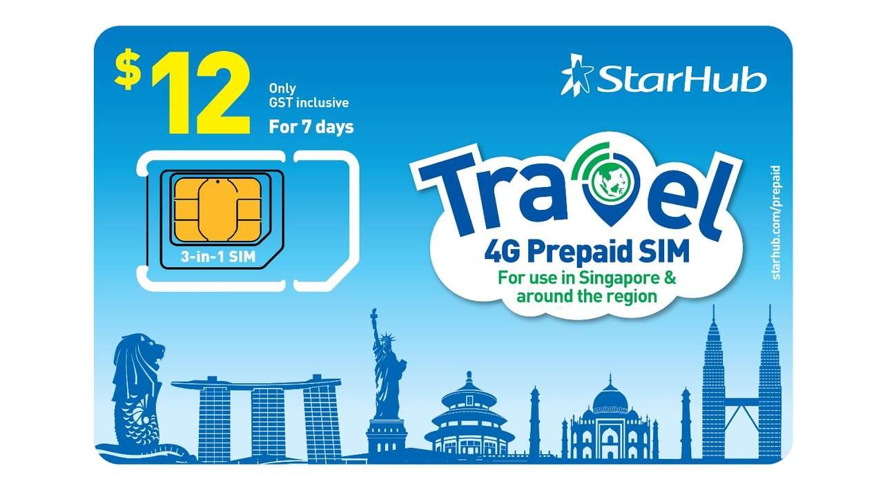 4G上網SIM卡(新加坡樟宜機場領取)由StarHub提供