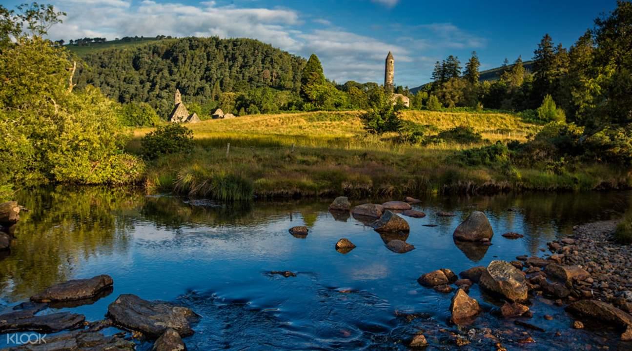 glendalough valley, powerscourt gardens from dublin, powerscourt gardens trip, glendalough valley tour