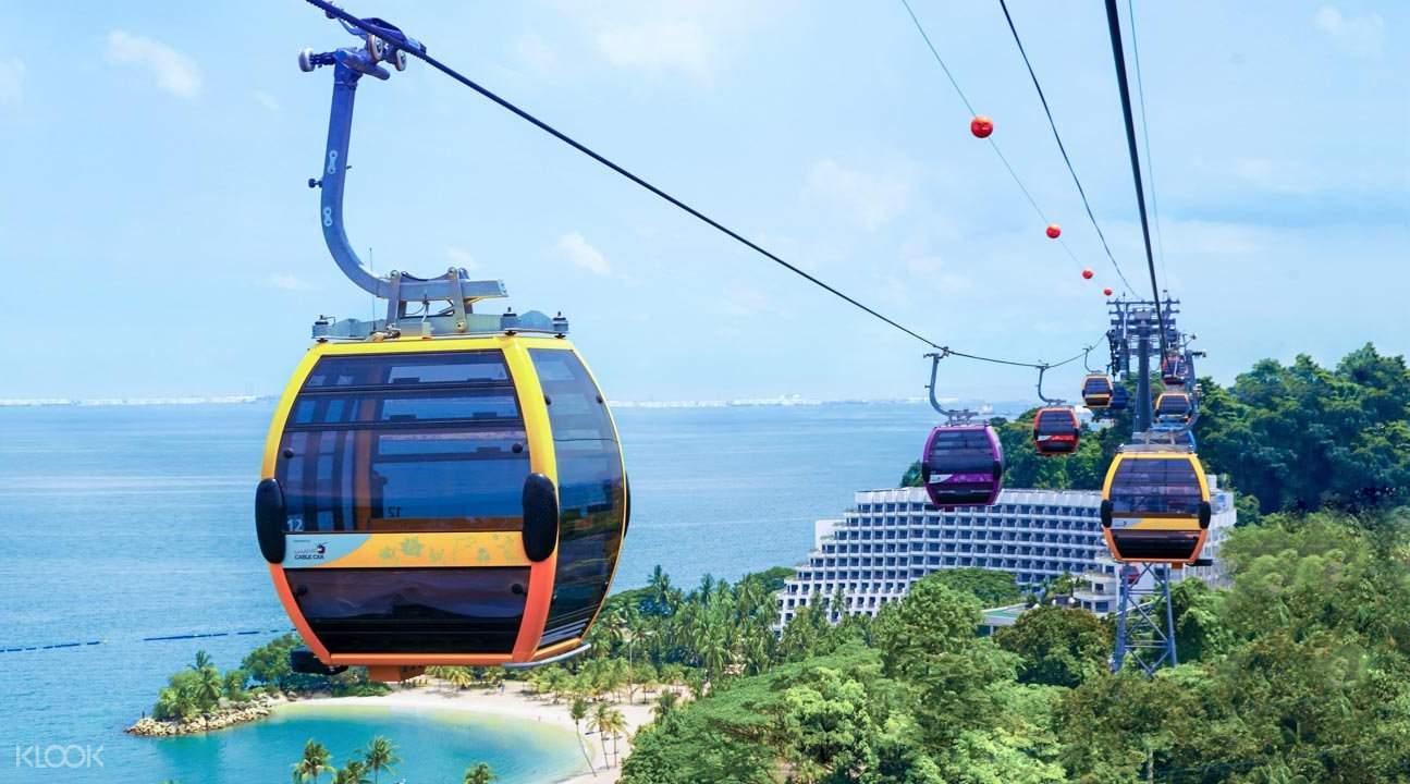 singapore cable car to sentosa island