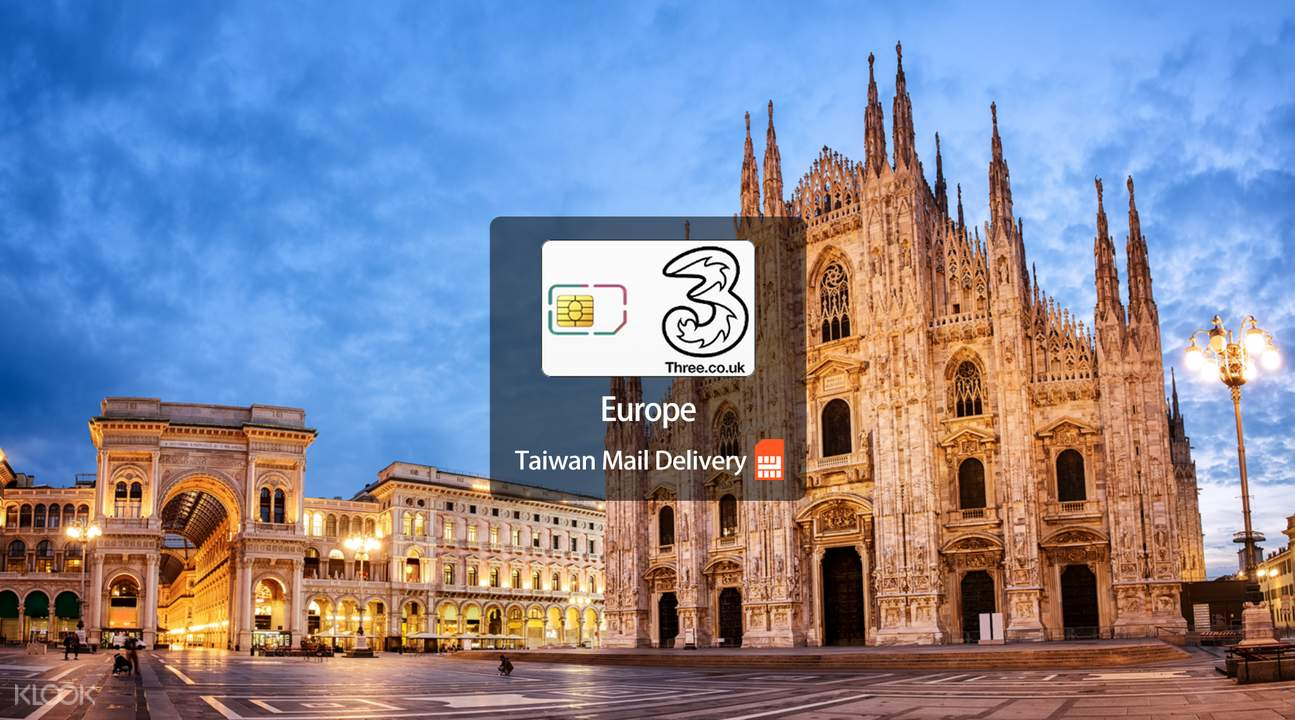 Europe Prepaid SIM Card (Taiwan Home Delivery)