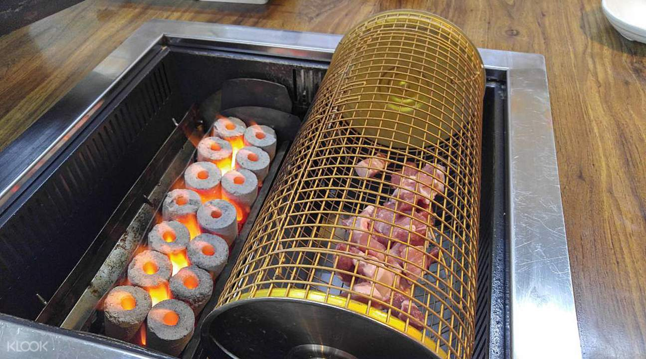 Korean BBQ rolling cage
