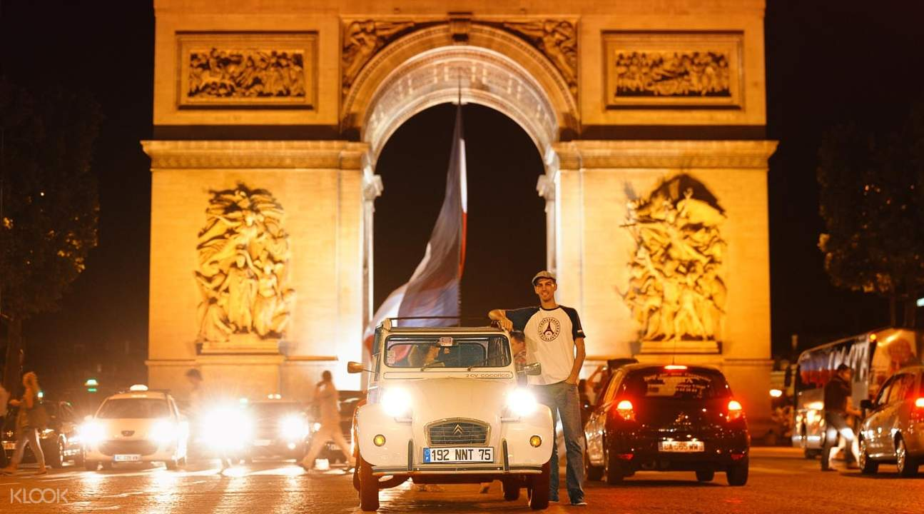 法國,巴黎,私人,復古車,古董車,雪鐵龍,遊覽,塞納河,遊船,夜景,城市,景點