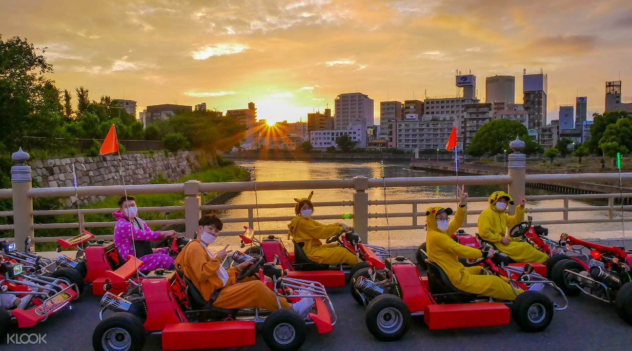 Go Kart Osaka picture taking