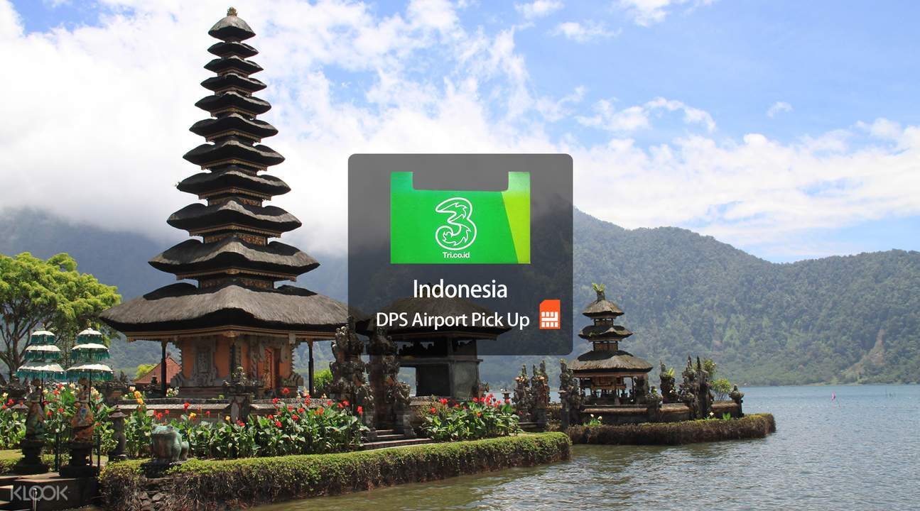 3G/4G SIM Card (DPS Airport Pick Up) for Bali by 3 Hutchison