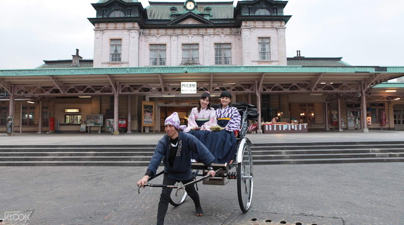 moji-ku ward rickshaw, rickshaw sightseeing trip in moji-ku ward, rickshaw sightseeing in kitakyushu, rickshaw kyushu