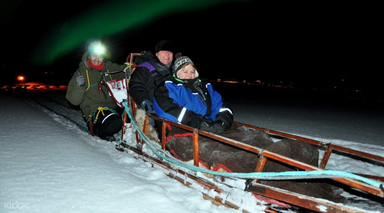 雪橇夜间体验