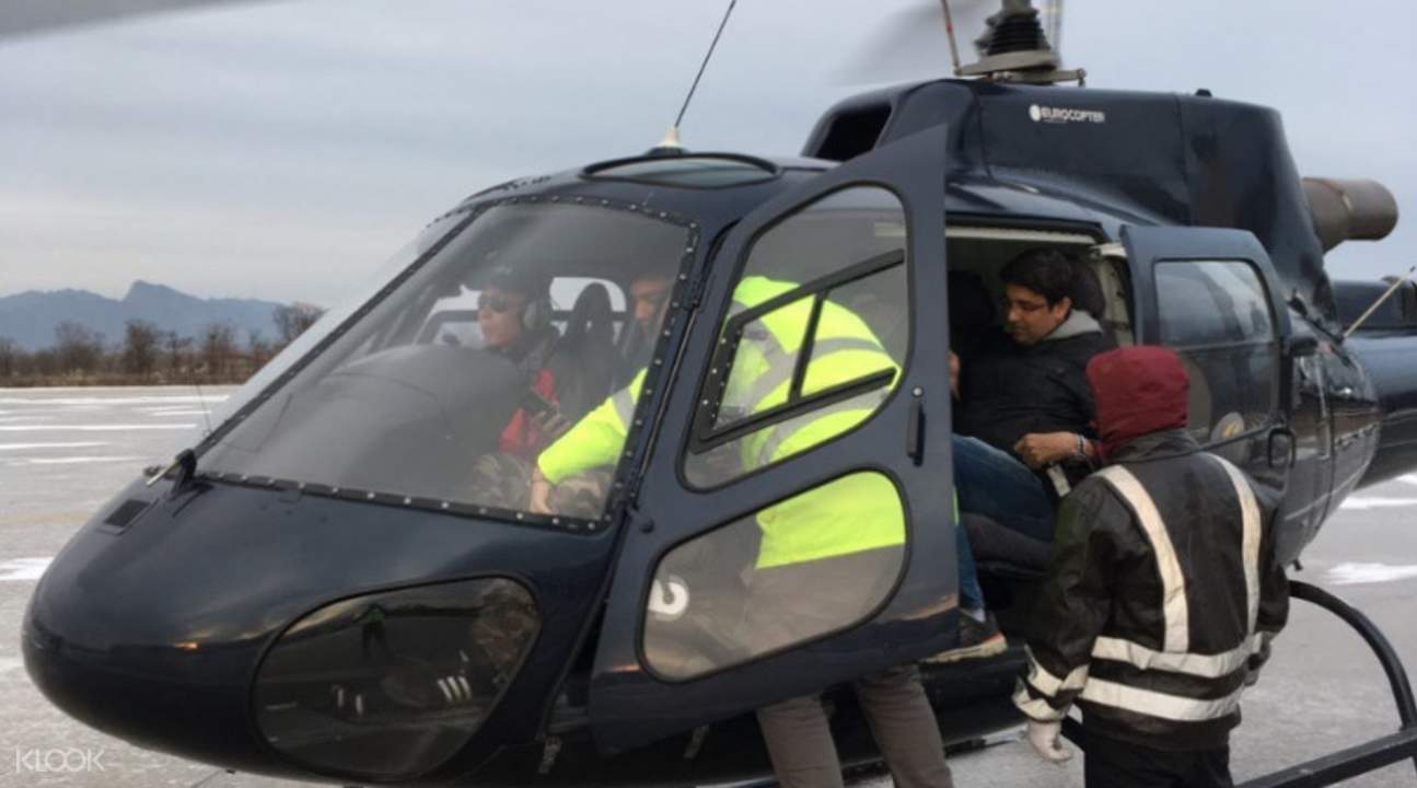 北京直升机遨游八达岭长城
