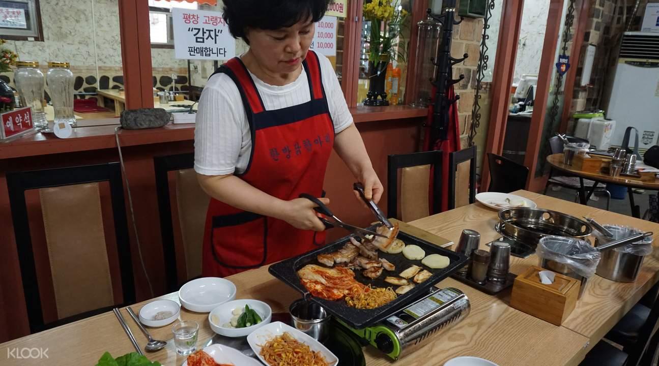 four seasons hanbang chicken restaurant south korea