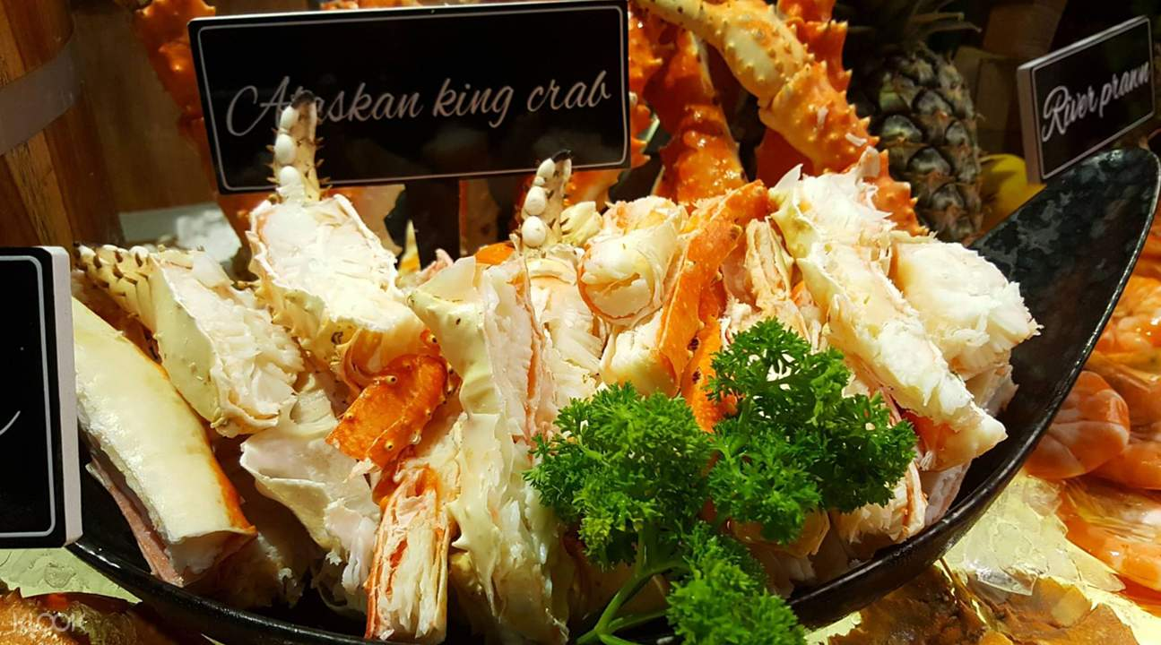 alaskan king crab The Kitch Restaurant at Mytt Beach Hotel in Pattaya Thailand
