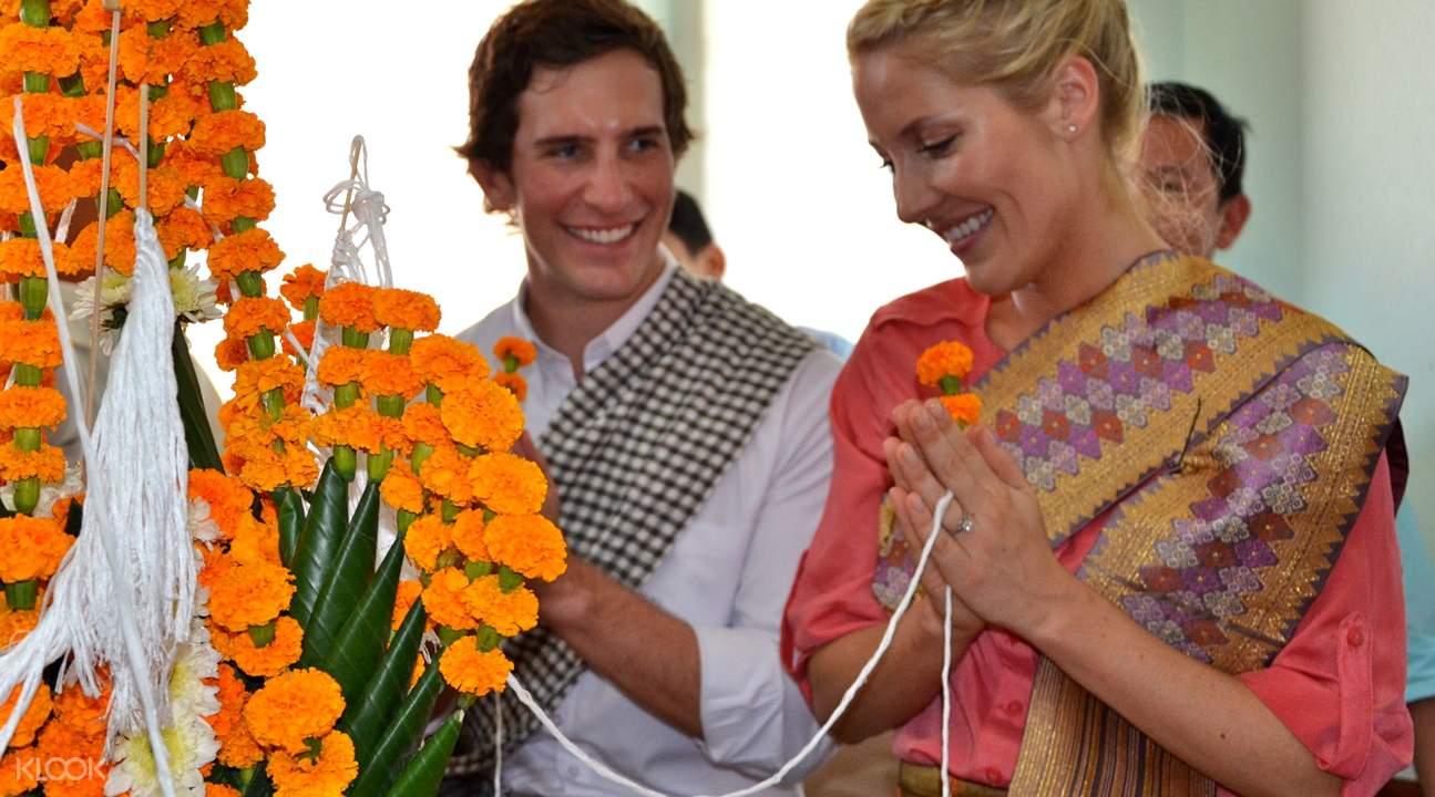 琅勃拉邦拴线仪式