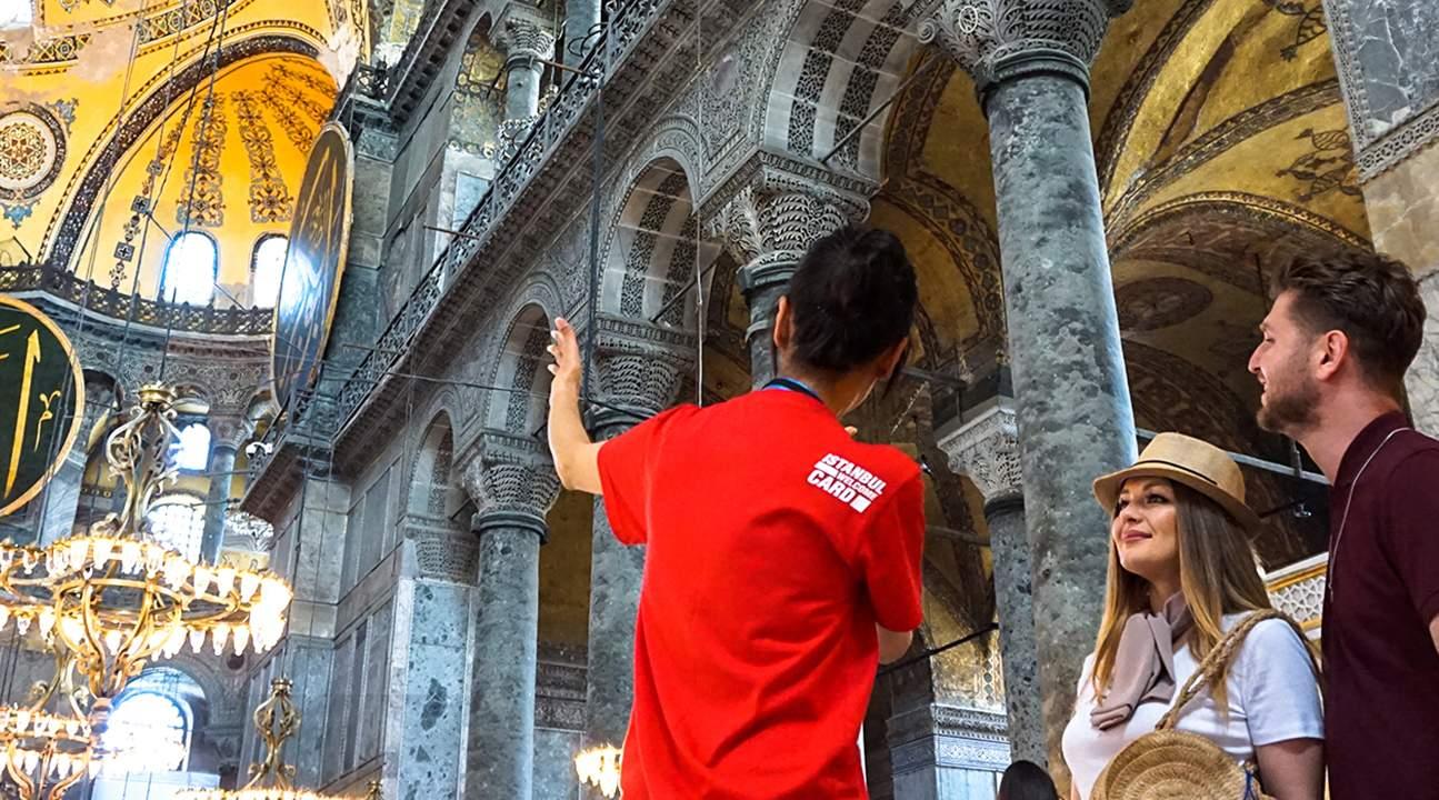 tourists exploring istanbul