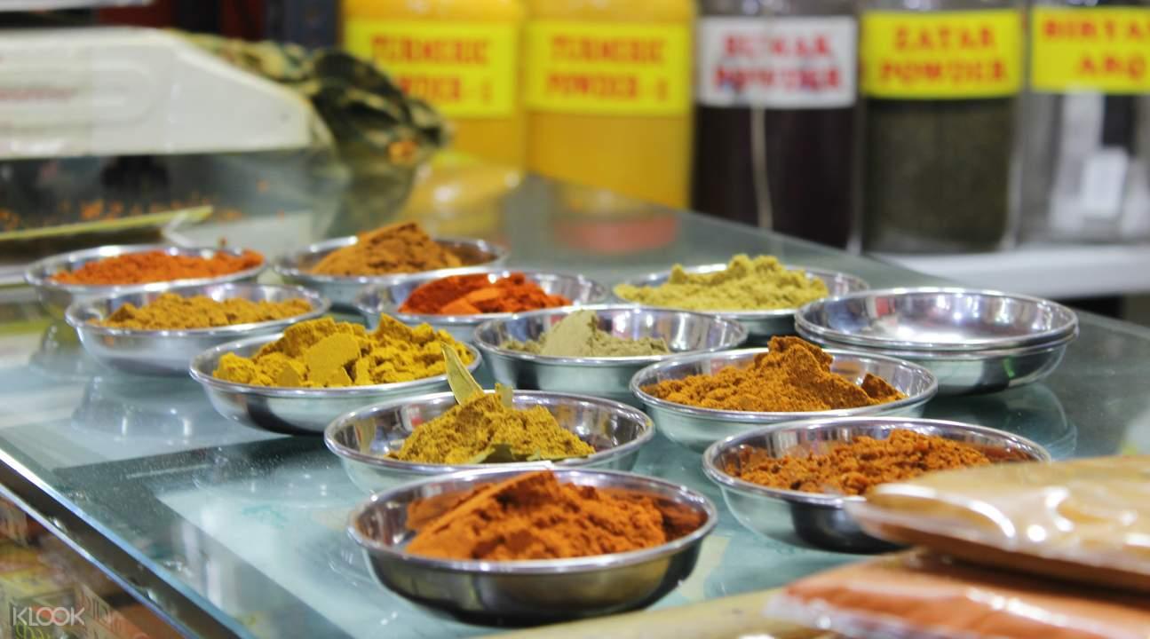 印度孟买特色市场步行游