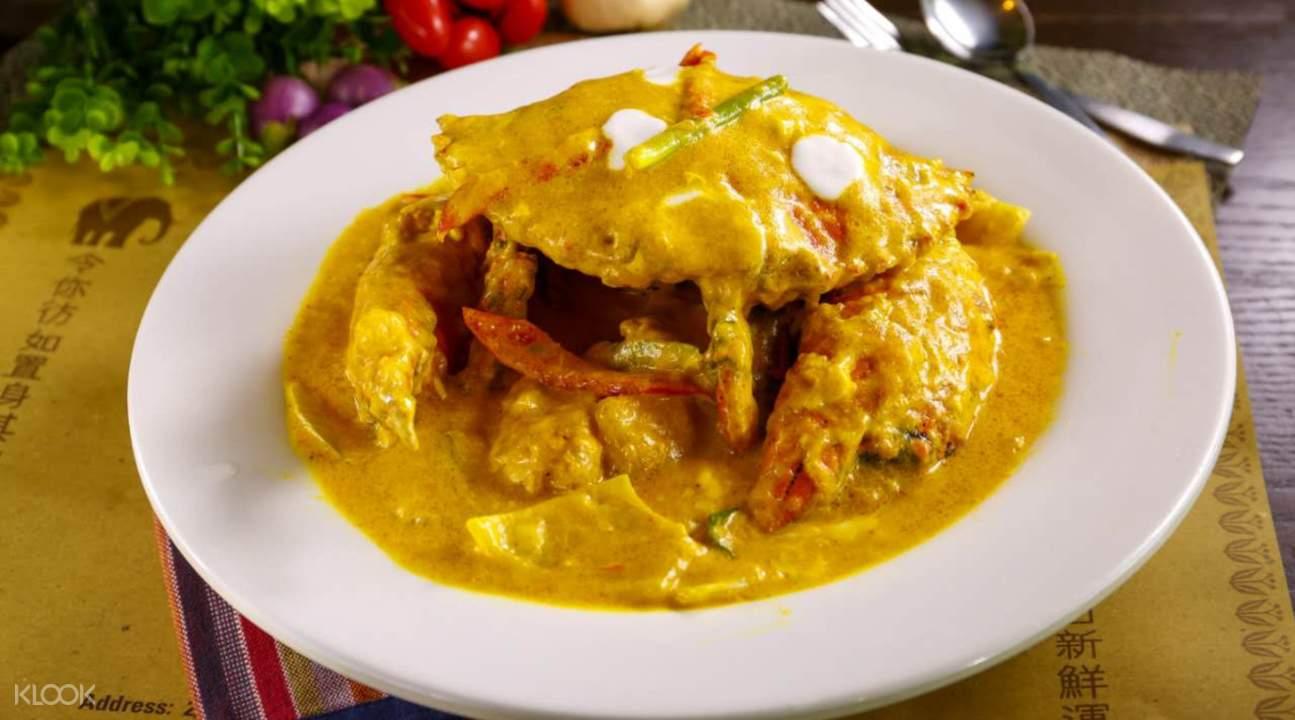 thai style curry fatty crabs sawali club causeway bay