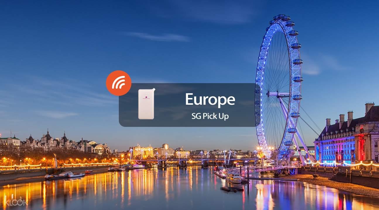 歐洲4G 隨身WiFi(新加坡領取)